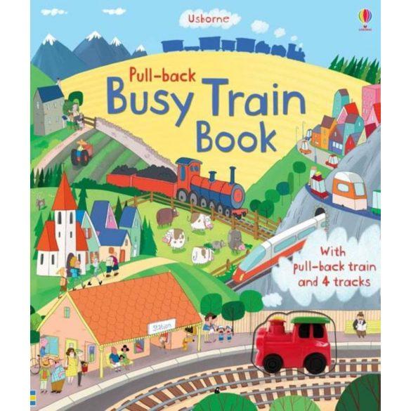 Pull-Back Busy Train Book