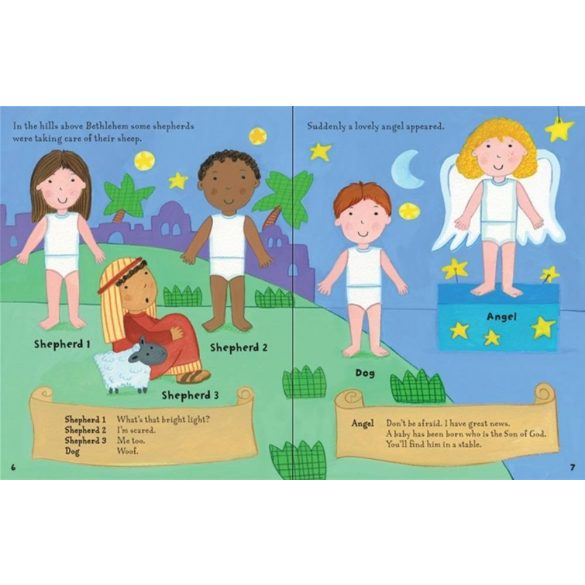 Dressing up sticker book: Nativity play