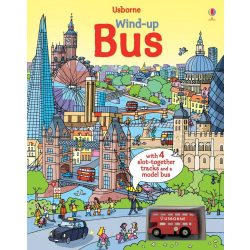 Wind-up Bus Book with Slot-Together Tracks
