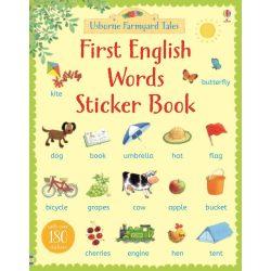 First English words sticker book