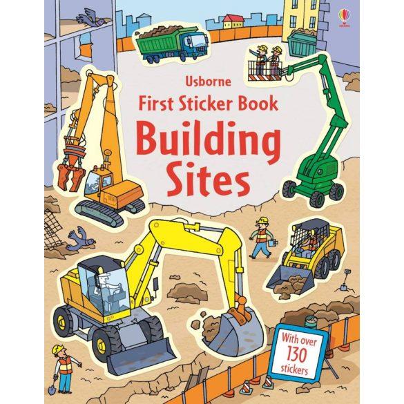First Sticker Books Building Sites