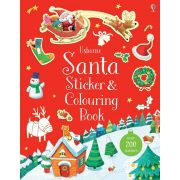 Santa Sticker and Colouring