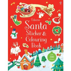 Santa Sticker and Colouring