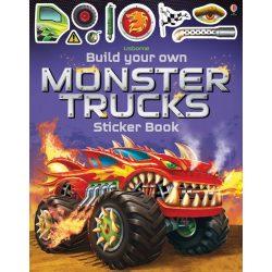 Build your own monster trucks sticker book