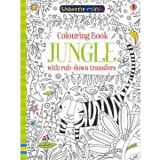 Jungle colouring book with rub-down transfers