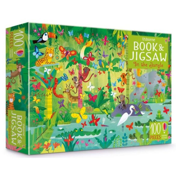 In the Jungle Puzzle Book and Jigsaw