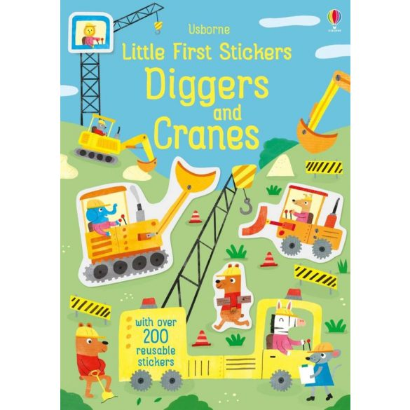 Little First Stickers Diggers And Cranes