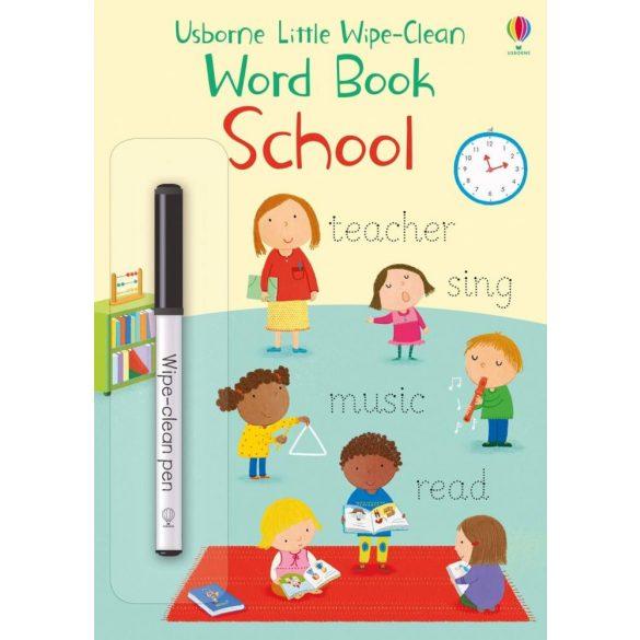 Usborne Little Wipe-Clean Word Book: School