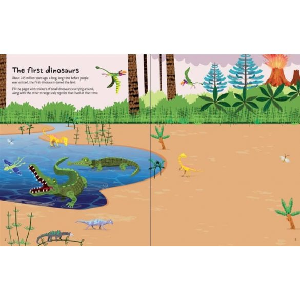 First sticker book - Dinosaurs