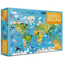Book and Jigsaw -  Animals of the world