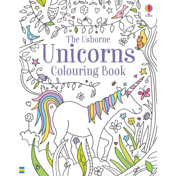 Unicorns colouring book