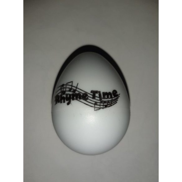 Rhyme Time White Eggshaker